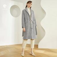 范思蓝恩 Z95308 女士毛呢大衣中长款外套