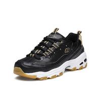 SKECHERS 斯凯奇 D'Lites 女士休闲运动鞋 9999224/BKTP 黑色/灰褐色 36