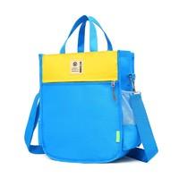oeny  学生补习手提袋 拼色蓝色+黄色