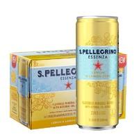 S.PELLEGRINO 圣培露 果萃充气柠檬风味饮料  330ml*24罐整箱