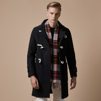 哈吉斯HAZZYS 秋冬新款羊毛大衣男英伦都市休闲保暖外套