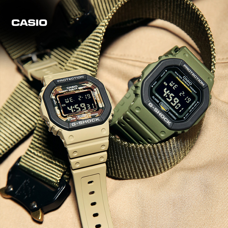 CASIO 卡西欧 G-SHOCK DW-5610SU 迷彩系列石英表