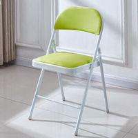 靠背折叠椅  白腿+绿面
