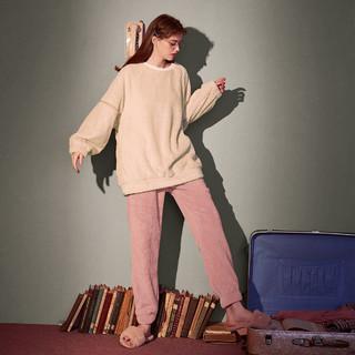Gukoo 果壳 女士珊瑚绒睡衣套装