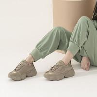 拼接保暖增高女式运动鞋