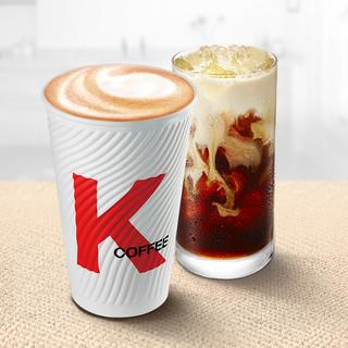KFC 肯德基1杯现磨咖啡/拿铁(冰/热)(中)兑换券