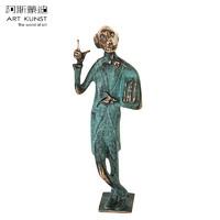 格哈德《书迷》雕塑作品 德国进口青铜艺术品 高端礼品 纯铜摆件创意礼品
