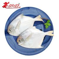 力度升级:美加佳 国产银鲳鱼 平鱼 1kg *4件 +凑单品