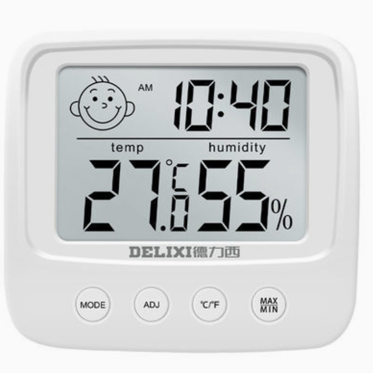DELIXI 德力西 室内干湿两用电子温度计