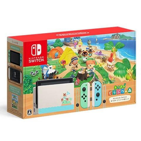 百亿补贴、绝对值:Nintendo 任天堂 日版 switch主机 蓝绿限定(含游戏)