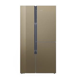 SIEMENS 西门子 BCD-569W(KA96FSG0TI) 569升 三门对开门冰箱 金棕色