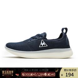 乐卡克公鸡舒适织物透气休闲时尚运动鞋跑步鞋男女CMT-183235 藏青 37