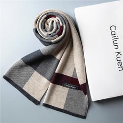 新款围巾针织高档男士羊
