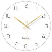 移动专享:CHANSUNRUN 虔生缘 简约时尚挂表 30cm圆形挂钟-纯白色