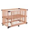 faroro 婴儿床 榉木大床+椰棕床垫+棉纱床围 125*75*H85cm