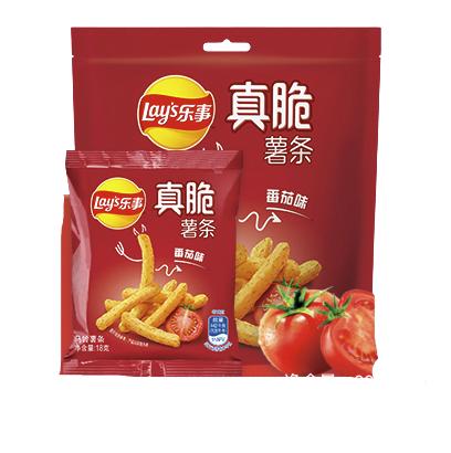 Lay's 樂事 真脆薯條系列 薯片 番茄味 90g*5袋