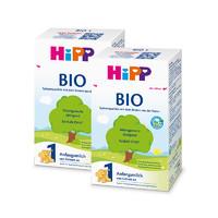 历史低价、考拉海购黑卡会员:HIPP 喜宝 有机BIO婴儿配方奶粉 1段 600克 2盒装