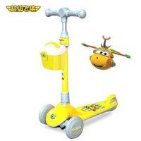超级飞侠儿童滑板车2-6-8岁 可折叠大童小孩脚踏玩具车学步车宝宝滑步车扭扭车溜溜车 Cam多多黄