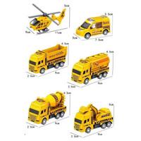 竺古力 工程建筑系列 回力消防车工程车套装 (袋装)