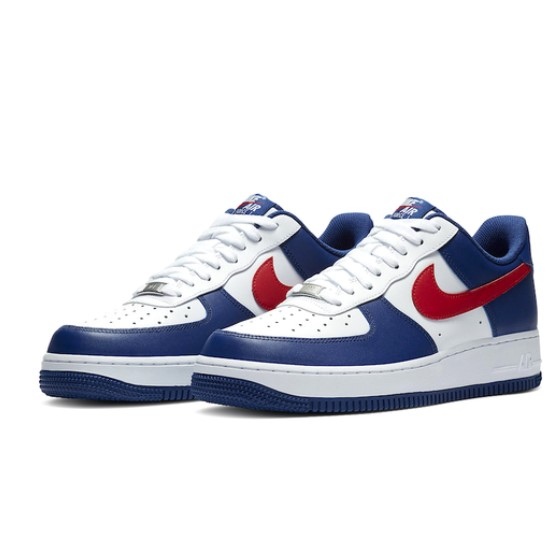 NIKE 耐克 Air Force 1 Low Independence Day 男士休闲运动鞋 CZ9164-100 白/蓝/红 43