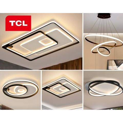 TCL照明 客厅吸顶灯套装三色调光106*2W三室两厅北欧套餐A