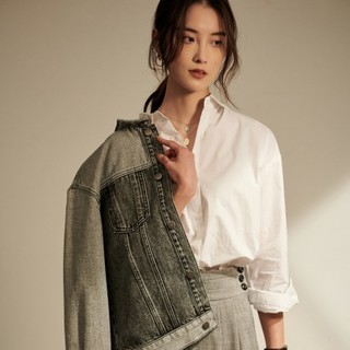 CHUMIAN 初棉  660406131A123 辣目洋子同款 女士白衬衣