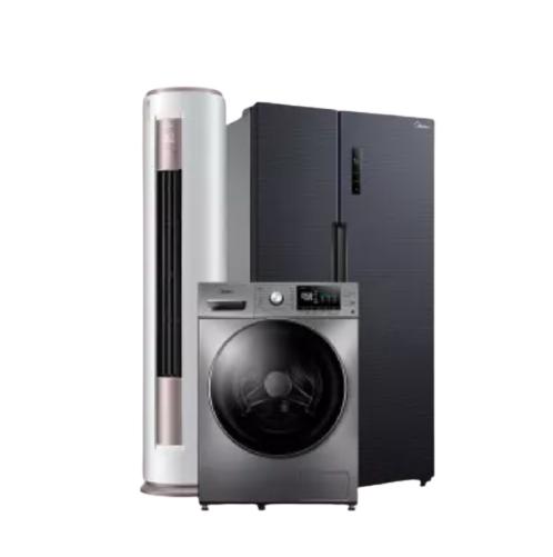 美的(Midea)新一级3匹空调KFR-72LW/BP3DN8Y-YH200(1) 滚筒洗衣机MD100A5 540升变频冰箱BCD-540WKPZM(E)