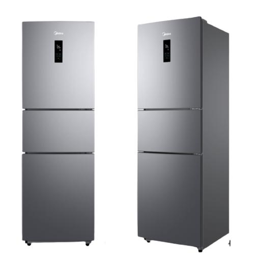 Midea 美的 247升三门多门家用冰箱风冷无霜小冰箱BCD-247WTM(E)全温区变温智能家电节能低噪