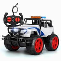 GOUGOUSHOU 勾勾手 遥控越野车模型 吉普车-警车白色
