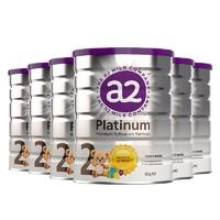 超值黑五、88VIP:a2 艾尔 婴幼儿配方奶粉 2段 900g*6罐