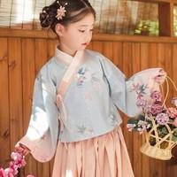 Jeebay 儿童中国风印花汉服 粉色套装 140