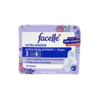 Facelle 菲思乐 夜用无香棉柔护翼型卫生巾无荧光剂5滴水 32cm 10片