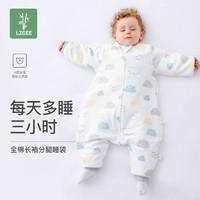 林中歌睡袋婴儿秋冬厚款防踢被宝宝四季通用儿童睡袋冬季纯棉加厚