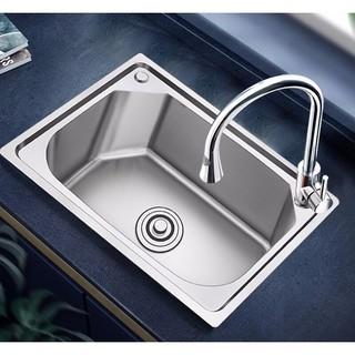 Superte 舒美特 304不锈钢厨房水槽单槽 53*39cm+SUS304不锈钢龙头