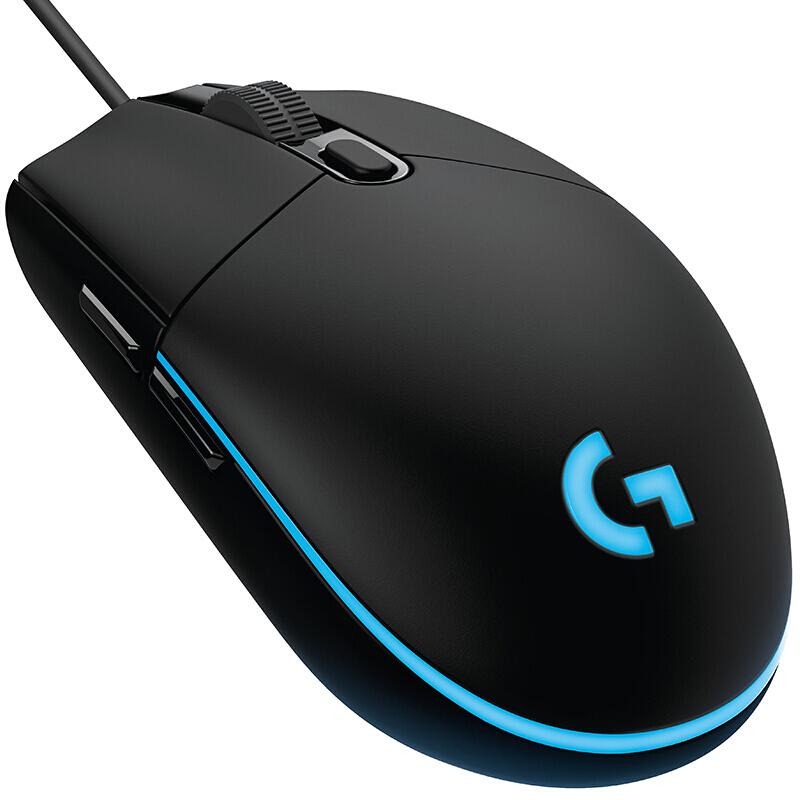 罗技G102二代游戏鼠标电竞鼠标有线轻巧RGB发光吃鸡宏绝地求生LOL英雄联盟CF 102黑色 第二代