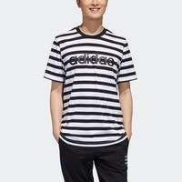 27日0点:adidas 阿迪达斯 neo GJ8917 男士运动条纹T恤