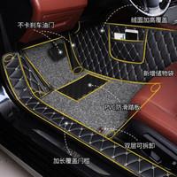 汽车脚垫包门槛定制新款 单层包门槛-黑红脚垫+凑单品