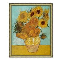 梵高油画静物花卉《向日葵》沙发背景墙装饰画挂画 92×114cm