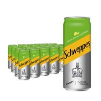 限地区:Schweppes 怡泉  无糖零卡 柠檬味 苏打水 汽水饮料 330ml*24罐 *3件