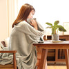 爱尔雅 素色法兰绒毯 浅绿 100*150cm