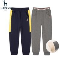 HAZZYS 哈吉斯 儿童加绒裤子