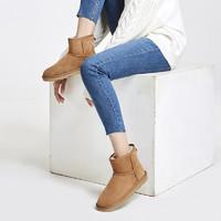 苏宁极物 JWXZ001 女士经典短款皮毛一体雪地靴