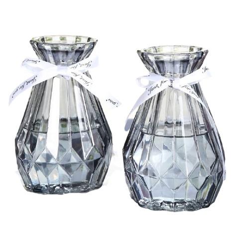 移动专享: OUYIMANDE 欧伊曼得 玻璃花瓶 加丝带 2个装