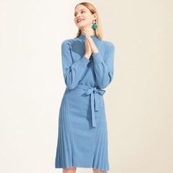 Juzui 玖姿 JTAD31406022 女士中长款针织连衣裙