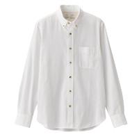 MUJI 无印良品 M9AC526 男士新疆棉法兰绒衬衫