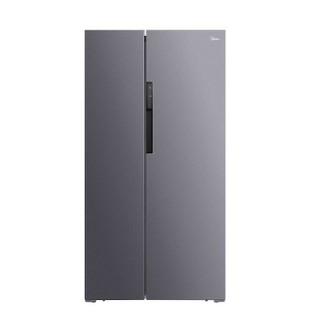 Midea 美的 BCD-606WKPZM(E)对开门冰箱 606L 银色