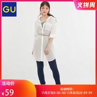 27日0点:GU 极优 324889 女装薄纱长款衬衫