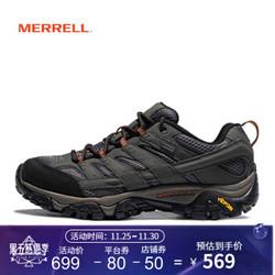 MERRELL迈乐 男鞋 MOAB GORE-TEX 徒步鞋 防水耐磨 缓震登山 J06039 灰J06039 41