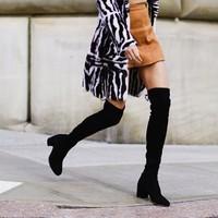 考拉海购黑卡会员:STUART WEITZMAN Tieland系列 女士过膝长筒靴