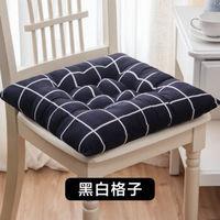 移动专享:KASTIZA 凯仕帝 加厚椅子座垫黑白格子 40*40CM(1件装)